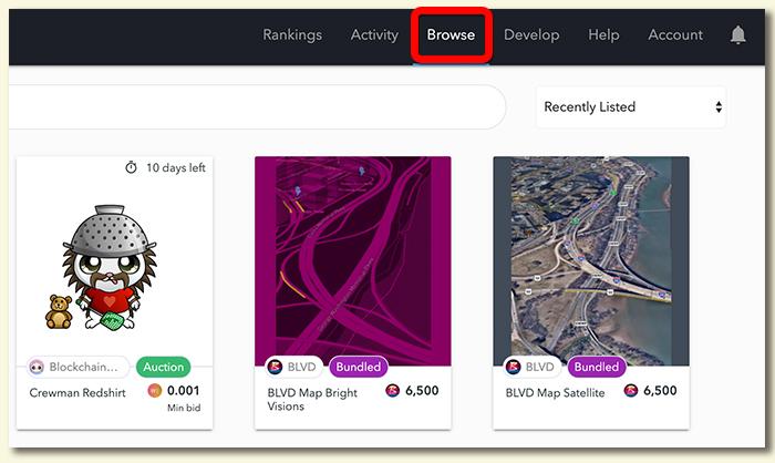 OpenSea(オープンシー) 販売中アイテムの見方