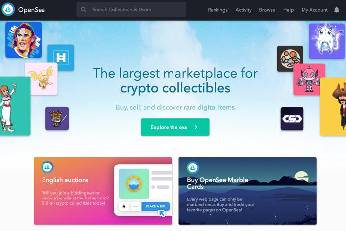 OpenSea(オープンシー) - トップ