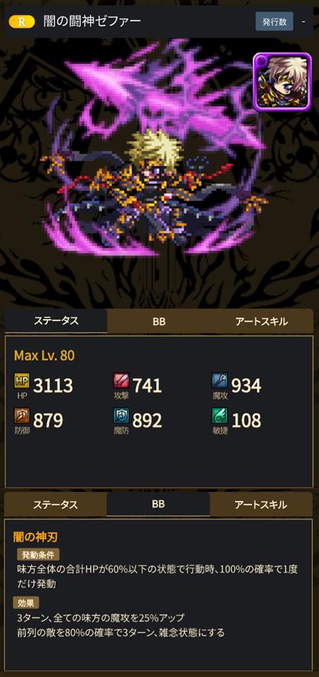 闇の闘神ゼファー - ブレヒロ攻略