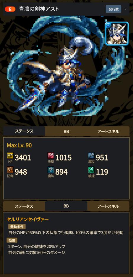 青凛の剣神アスト - ブレヒロ攻略
