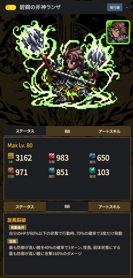 碧鋼の斧神ランザ - ブレヒロ攻略
