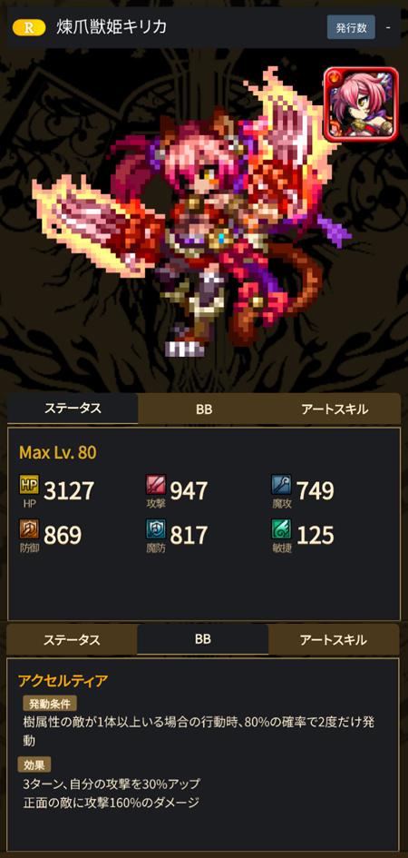 煉爪獣姫キリカ - ブレヒロ攻略