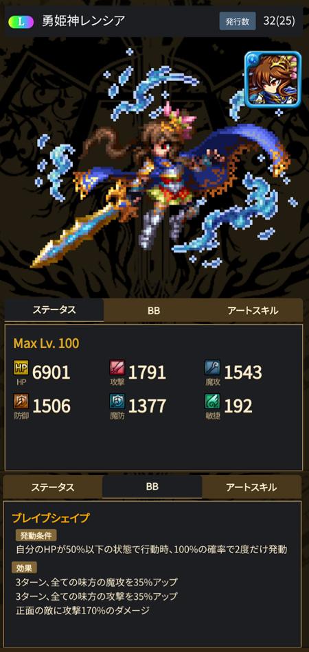 勇姫神レンシア - ブレヒロ攻略