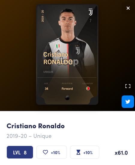 クリスティアーノ・ロナウドのカード - SORAREの始め方と遊び方