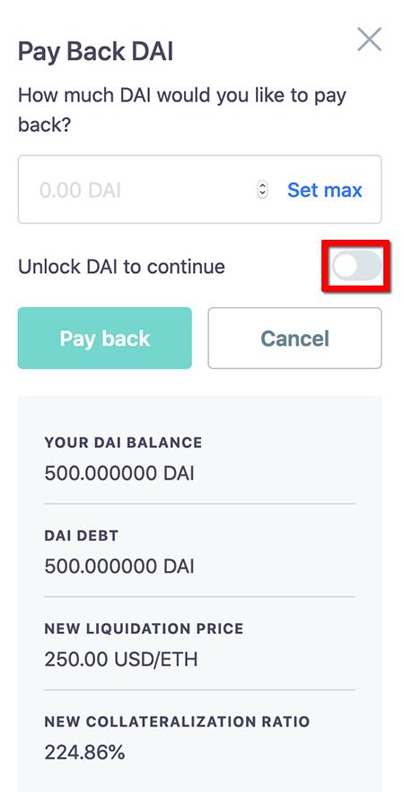 Unlock DAI to Continue - ステーブルコインDAIの発行方法